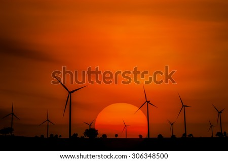The wind turbine generator,the renewable energy - stock photo