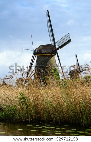 The windmills of Kinderdijk are one of the Dutch UNESCO world heritage sites