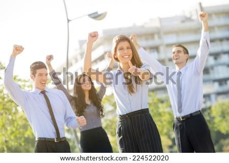 The Winning Business Team - stock photo