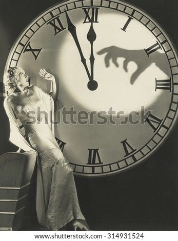 The witching hour - stock photo