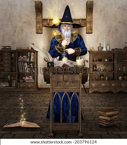 The wizard - stock photo