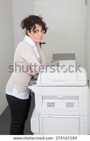 The Woman executive  working  at the office - stock photo