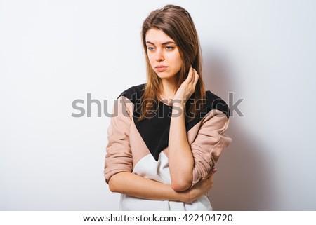 The woman is sad - stock photo