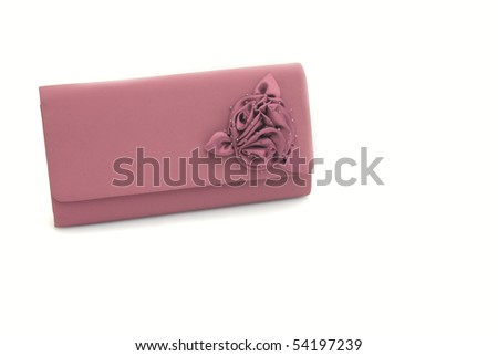 The  women clutch bag isolated on white background