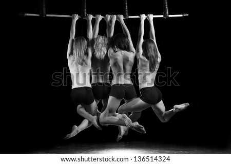 The women on the trapeze