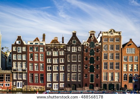 The wonderful city of Amsterdam within its beautiful architecture