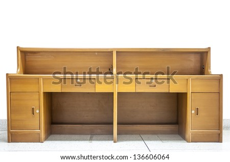 The wood counter office. - stock photo