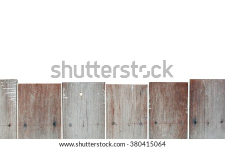 The wood fence isolated include clipping path - stock photo