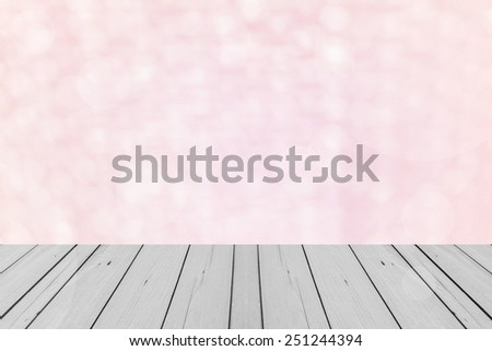 the wood terrace in pink Background of Air bubble wrap foil welcome to valentine day - stock photo
