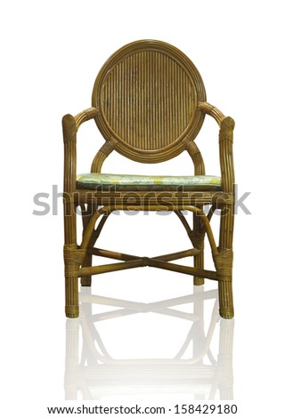 The Wooden chair isolated over white, with clipping path.