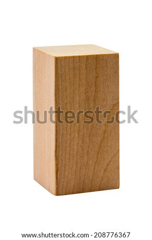 The wooden figure geometric shape, isolated on white