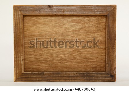 The wooden frame made with a scrap wood