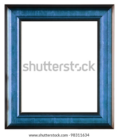 The wooden photo frame isolated on white - stock photo