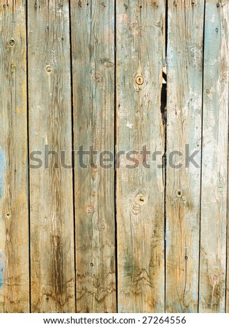 The wooden protection old on all background - stock photo