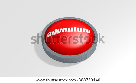 The Word Adventure 3D Button Render