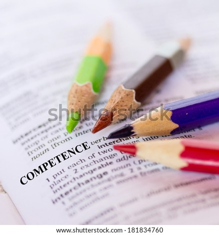 The word COMPETENCE - stock photo