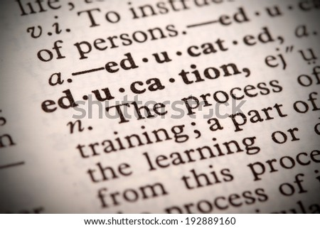 "The word ""Definition"" in a dictionary - stock photo"