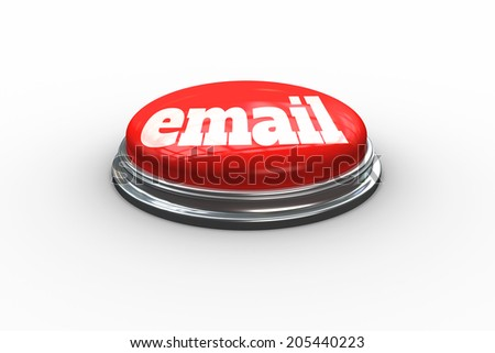 The word email against digitally generated red push button