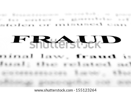 The word fraud shot with artistic selective focus. - stock photo