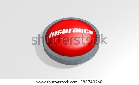 the word insurance on a red 3D rendered button
