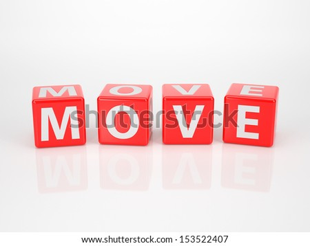 The Word Move out of red Letter Dices