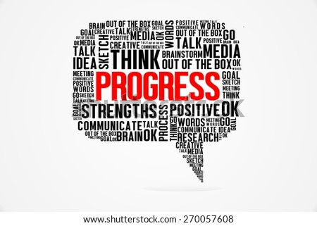 The Word of Progress On Bubbles Concept - stock photo