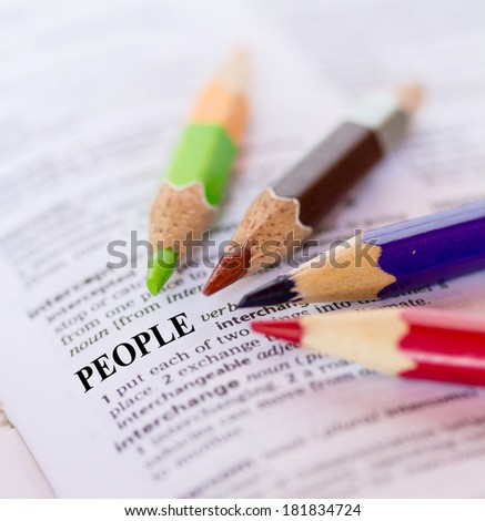 The word PEOPLE - stock photo