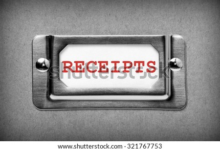 word receipts red text on white stock photo royalty free 321767753