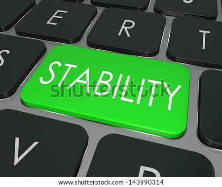 Stability Stock Photos... Word Stability