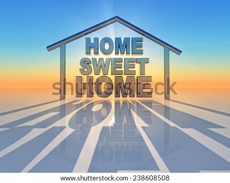 the word sweet home inside a home shape - stock photo