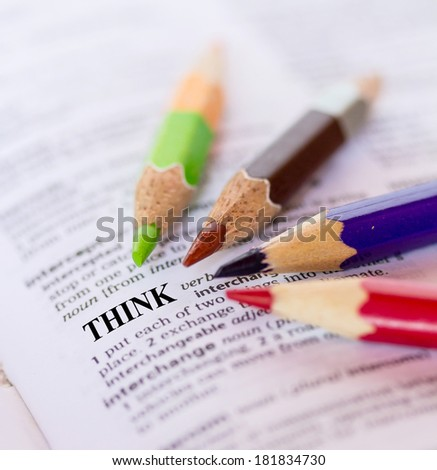 The word THINK - stock photo
