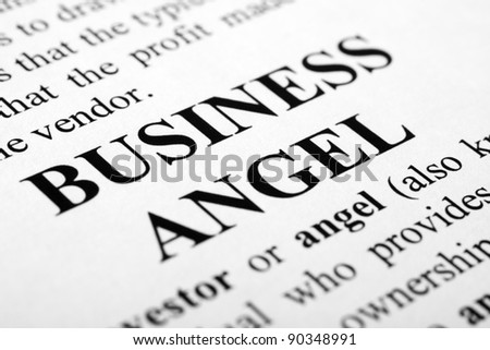 The words business angel shot with artistic selective focus. - stock photo