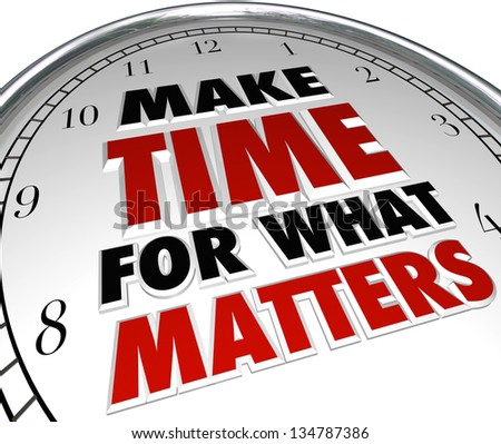 Words Make Time What Matters On Stock Illustration 134787386 ...