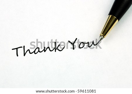 The words Thank You concepts of appreciation and thankfulness - stock photo
