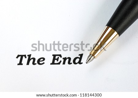 The words The End concepts of final - stock photo