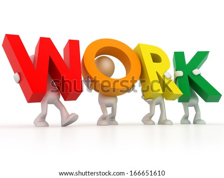 The work word - stock photo