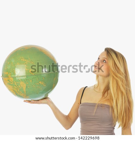 The world at your fingertips 035 - stock photo