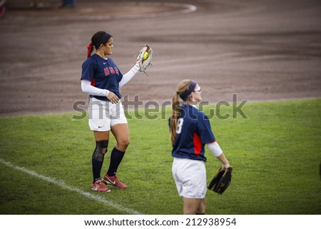 The World Championship Softball, Haarlem, NL, Pictures taken on Thursday August 23, 2014