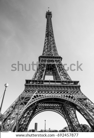 The world famous Eiffel Tower in Paris