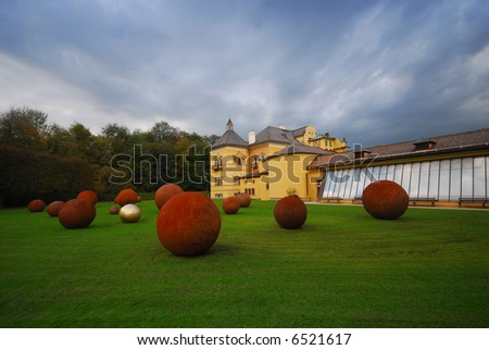 The world famous Hellbrunn summer palace, at Salzburg, Austria