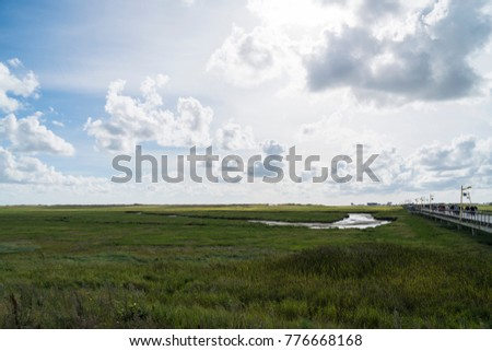 "The World Heritage Sites ""Wattenmeer"" ( Wadden Sea ) in St. Peter Ording / Nordfriesland"