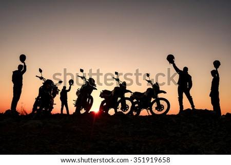 The world of bikers - stock photo