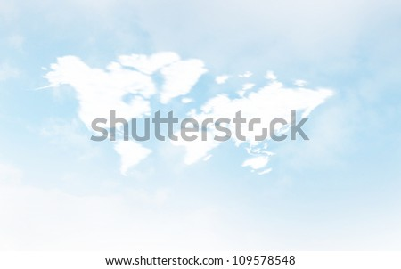 The World of Cloud Computing - stock photo
