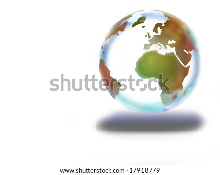the world on a white background