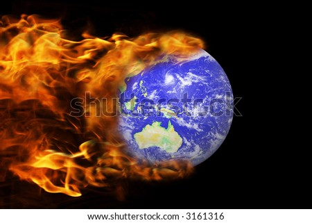 the world on fire - stock photo