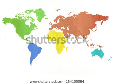 the world with the paper texture