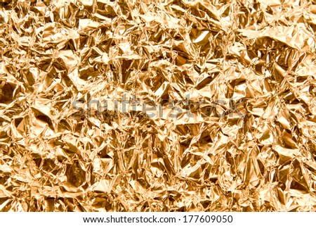 The wrinkled foil closeup - stock photo