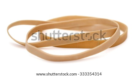 The yellow sympathy rubberbands - stock photo