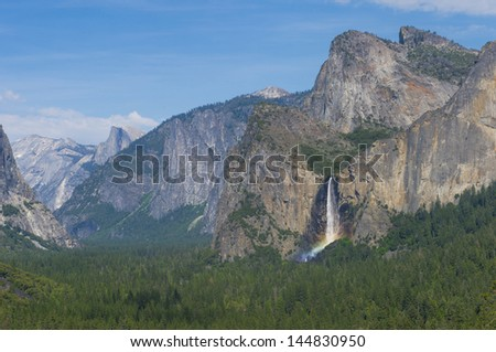 The Yosemite Valley in Yosemite National Park, California