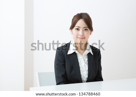 The young businesswoman who is pleased